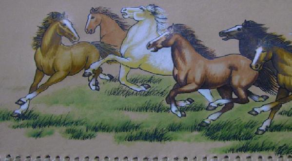 内蒙古牛皮画