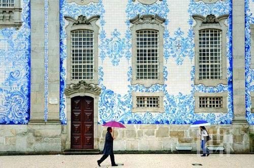 葡萄牙蓝色彩瓷砖