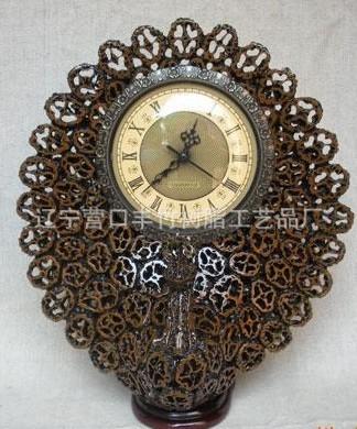 山核桃工艺品花瓶钟表