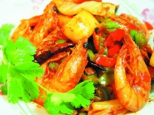 韩国泡菜炒虾