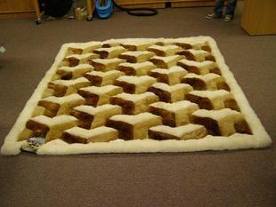 新西兰驼羊皮毯