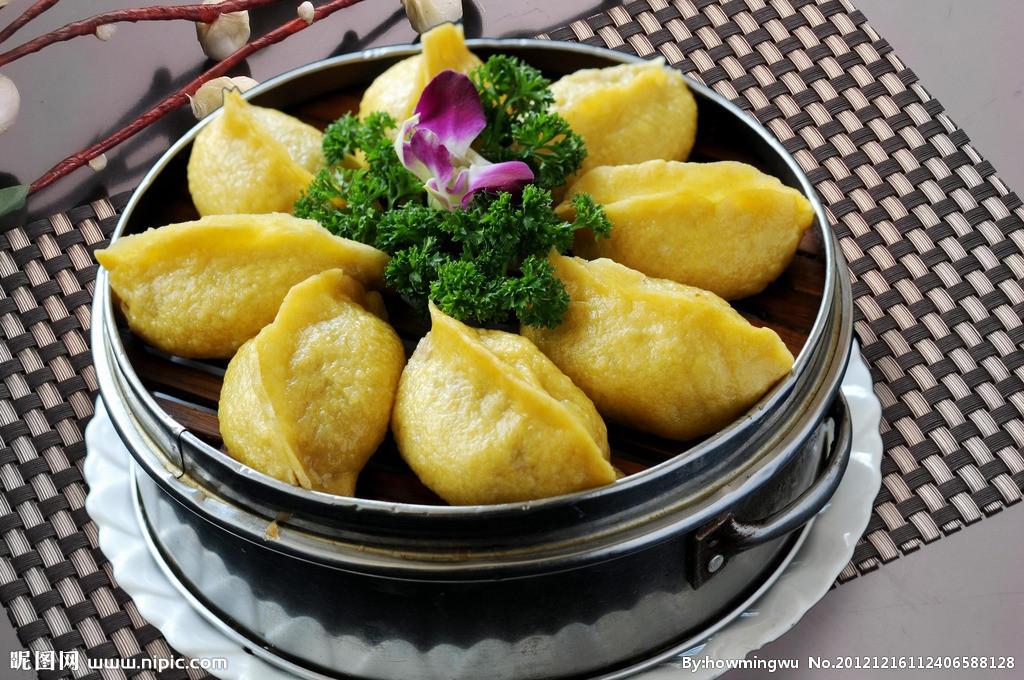 玉米酸菜蒸饺