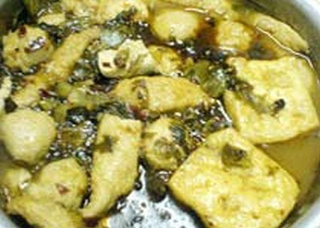 腌菜汁蒸豆腐