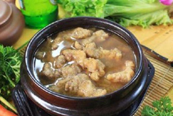 沙锅牛线汤