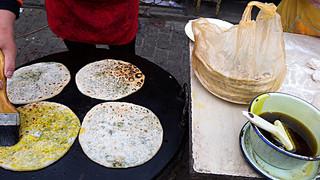 桑村石磨煎饼