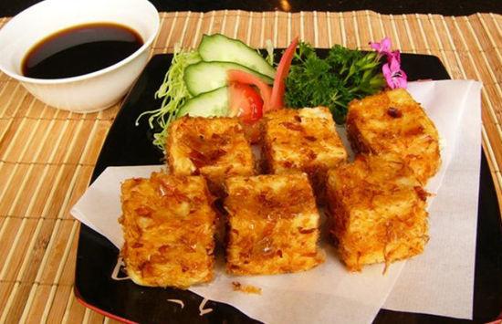 韭菜镶豆腐炸