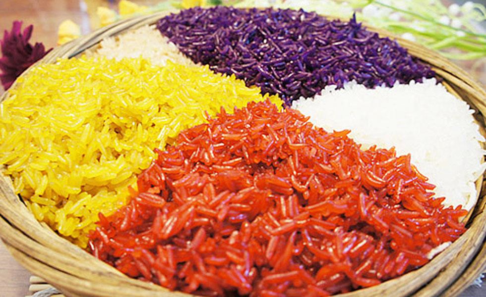 壮族五色香糯米饭