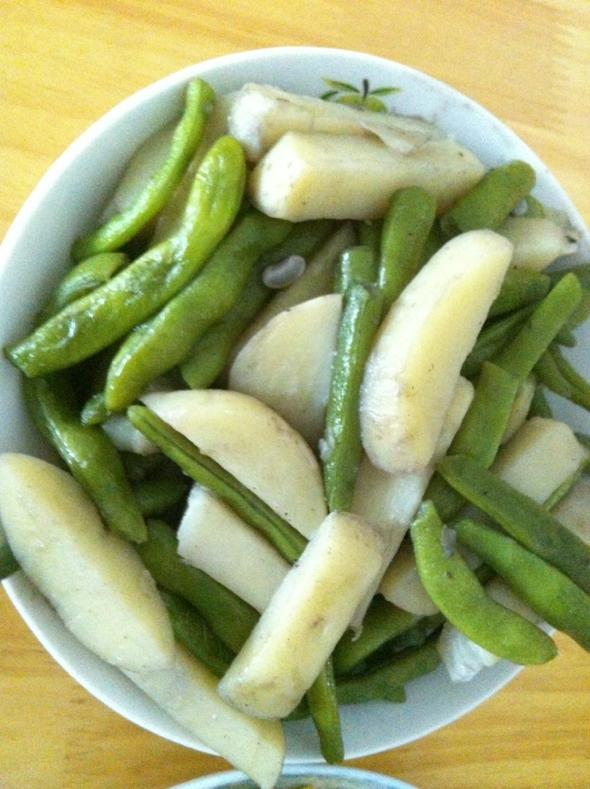 白煮土豆四季豆