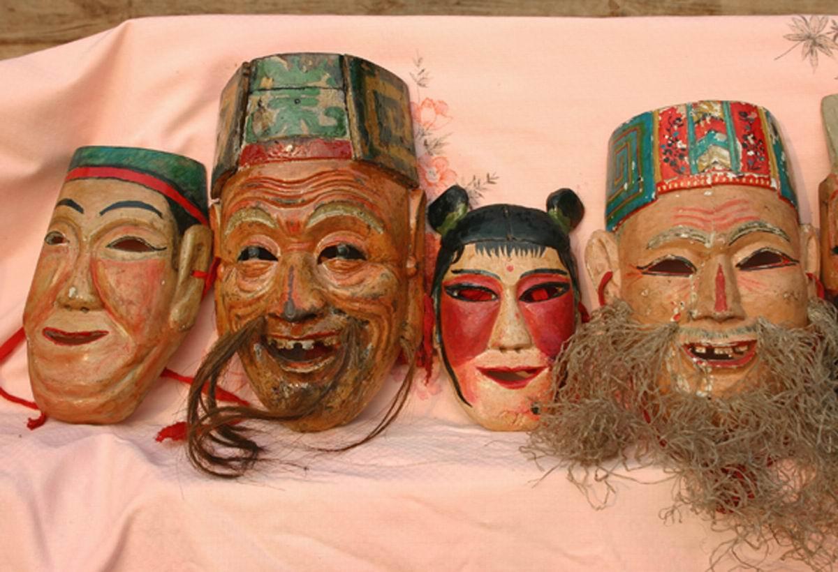 傩戏地戏面具