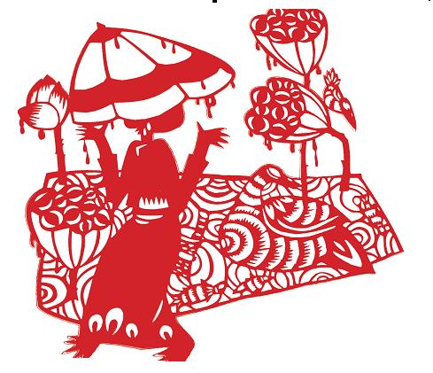 傣族垃圾箱手绘图