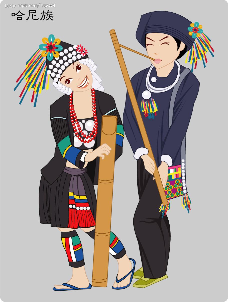 &nbsp&nbsp&nbsp&nbsp&nbsp&nbsp&nbsp&nbsp中国是一个统一的多民族国家,目前通过识别并经中央政府确认的民族共有56个。其中由于汉族以外的55个民族相对汉族人口较少,习惯上被称为少数民族。中国的少数民族分布广阔,各民族的形成,经历了至少两千多年的分化或融合过程,民族文化也都有着各自长期发展的历史传统,民族服饰多姿多彩,服饰文化内容格外丰富。本期为您展示的是哈尼族服饰。 &nbsp  哈尼族是中国西南边疆古老的民族之一,绝大部分分布在云南省南部红河与澜沧江的中间地带,是一